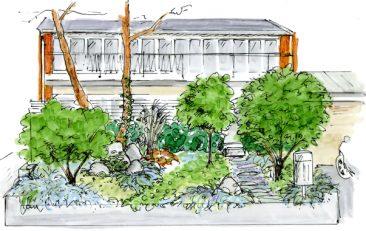 Trädgårdsförslag, entré