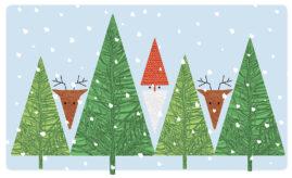 Illustration eget julkort 2018
